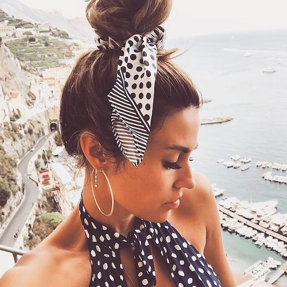 hairstyle with a scarf